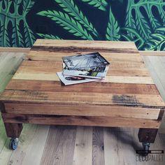 "MESA RATONA ""BARTOLA"" CON RUEDAS - Decopallet Coffee, Table, Furniture, Home Decor, Salvaged Wood, Arts And Crafts, Wheels, Kaffee, Decoration Home"