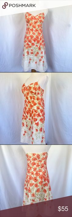 Ann Taylor Summer Dress SZ 6 Like New, Recently professionally cleaned, Ann Taylor Summer Dress. Size 6. Dry clean only. 100% cotton. Ann Taylor Dresses