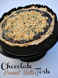 The Farm Girl Recipes: Chocolate Peanut Butter Torte Sweets Recipes, Just Desserts, Delicious Desserts, Cooking Recipes, Yummy Food, Peanut Butter Baby, Chocolate Peanut Butter, Chocolate Recipes, Pie Dessert