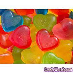 Filled Mini Gummy Hearts Candy: 5LB Bag