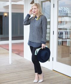 Black & Navy Casual Outfit via @mystylediaries