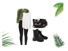 """""""green wear"""" by jhodan ❤ liked on Polyvore featuring Nika, Alice + Olivia, Gap and Versace"""