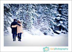 winter snow engagement portrait photographer