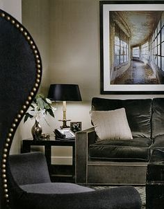 Artful Design tip: choose artworks that draw you in and  add an element of mystery to your space. The greater the scale of your display, the better to add drama.  Victoria Hagen- designer