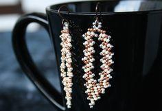 Golden summer - russian leaf earrings by MagicBeads