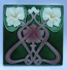 Antique Art Nouveau Tile by Henry Richards c1905/7