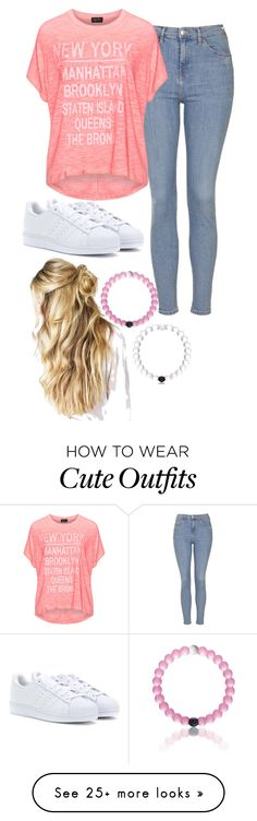 quick  cute saturday outfit by basic-penguin on Polyvore featuring Topshop, Replace, adidas, womens clothing, women, female, woman, misses and juniors
