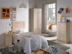 excelente Dormitorio juvenil Blanco decape Encuentra más en http://www.cunas-para-bebes.net/tienda/producto/dormitorio-juvenil-blanco-decape/