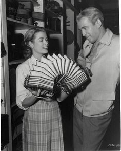 Grace Kelly & James Stewart - with an accordion/concertina!