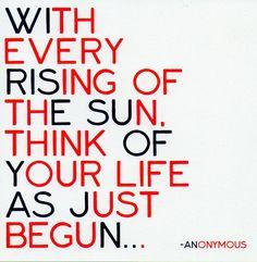start new each day