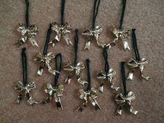 12 gold Christmas bows vintage gold bow Christmas decorations gold bow ties bow Christmas ornaments Christmas tree ornaments holiday bows