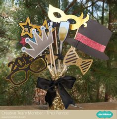 New Year's Eve Photo Prop cutting files by Lori Whitlock.