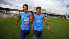 El Barça s'entrena sense Messi, absent pel naixement del seu fill