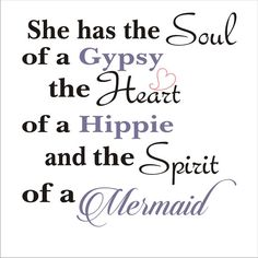 She has the SOUL of a Gypsy Mermaid Sign por SuperiorStencils