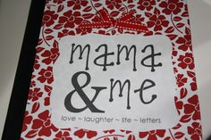 This is the BEST IDEA. An easy way to stay connected with your child even during busy times. The Mama and Me Book--Best Mother/Daughter Idea!