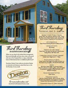 Explore Downtown Denton during Third Thursdays on May 21st.