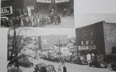"""Grand opening of """"Gone with the Wind""""  at Lee Theater, Pennington Gap, 1947. Wow, look at that crowd!"""