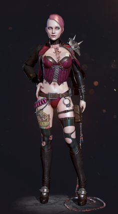 PunkRock Girl by seung hoon roh | Pinup | 3D | CGSociety