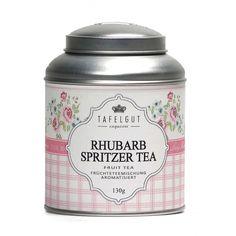 Tafelgut Fruit thee Rhubarb Spritzer ~ 30 gr. | Verse thee en kandijsuiker | Kadootjesvoorhaar