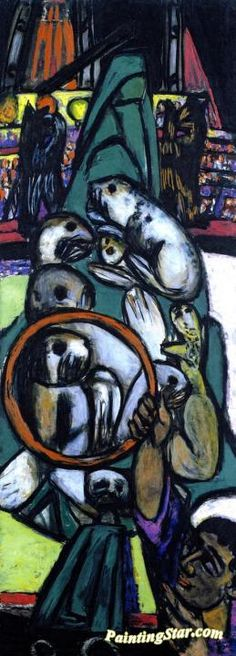 Sea Lions Artwork by Max Beckmann Hand-painted and Art Prints on canvas for sale,you can custom the size and frame