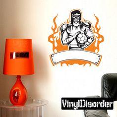 Soccer Wall Decal - Vinyl Sticker - Car Sticker - Die Cut Sticker - SMcolor003
