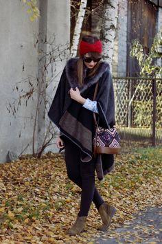Czy elegancja nie jest inteligencją? Musi być. Lekcje stylu Jadwigi Grabowskiej! / Babeczki na Wybiegu!  #boho #glam #casual #streetstyle #poncho #autumn