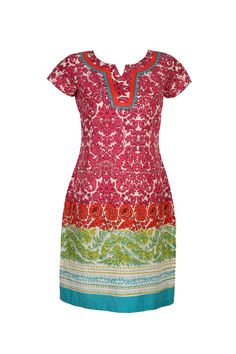 W's newly launched Spring/Summer Collection 2013.  #w #woman #fashion #style #colors #mix #floral #print #kurta #clothing #india #red #green #blue