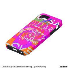 I Love Hillary USA President Stronger Together art iPhone SE/5/5s #Case