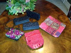 Luxurious variety of bags and clutches in satin, beads and rhinestones