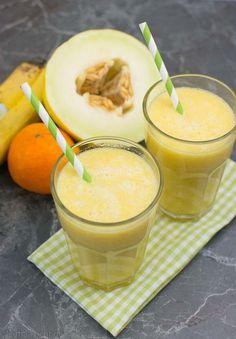 Orange-Banane Smoothie mit Melone
