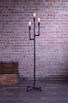 Pipe Floor Lamp Industrial Floor Lamp Edison Bulb Lamp