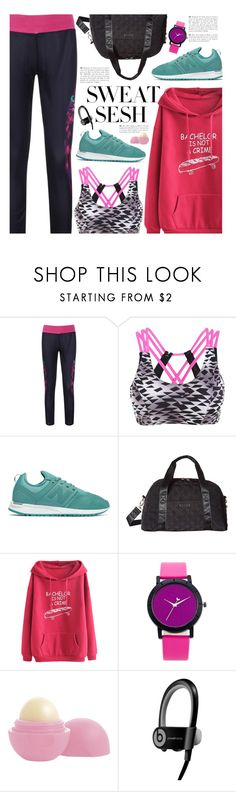 """Sweat Sesh: Gym Style"" by beebeely-look ❤ liked on Polyvore featuring New Balance, Vera Bradley, Andrea, Eos, sporty, Leggings, gamiss, sweatsesh and gymessentials"