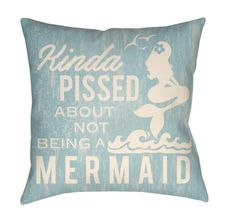 Buy the Surya Light Blue Direct. Shop for the Surya Light Blue Litchfield Wide Square Mermaid Typography Polyester Outdoor Accent Pillow Cover and save. White Pillow Covers, White Pillows, Throw Pillow Covers, Accent Pillows, Throw Pillows, Messy Room, How To Make Pillows, Typography Prints, Color Pop