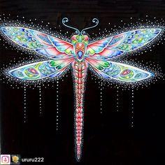 #Repost from @ururu222. #wonderfulcoloring 昆虫は苦手だけど塗ってみた  蝶々をこんな感じに塗りたかった  のでトンボで練習  背景無しも2枚目に載せてみました❗  #ジョハンナバスフォード #ねむれる森 #おとなの塗り絵 #おとなのぬりえ #大人の塗り絵book #大人のぬりえ #大人の塗り絵#johannabasfordcoloringbook #johannabasford #colouringforadult #colouring #coloriage #adultcolouringbook #florestaencantada