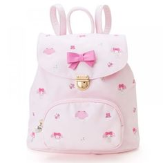 My Melody Luc (total handle embroidery) Sanrio online shop - official mail order site Kawaii Bags, Kawaii Clothes, Small Backpack, Backpack Purse, Peluche Hello Kitty, Fashion Bags, Fashion Backpack, Hello Kitty Collection, Kawaii Accessories