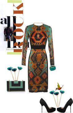 """Etro Dress"" by fashionmonkey1 ❤ liked on Polyvore"