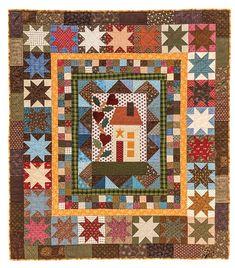 Homespun Hearts quilt by Diane D. Knott at Butterfly Threads: Sharing Scrap Quilt Secrets