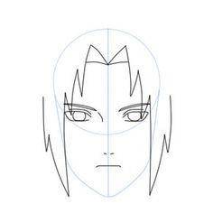 Como dibujar a Sasuke Uchiha (Shippuden) Paso a paso | Dibujanime! Naruto Drawings Easy, Easy Drawings Sketches, Cute Drawings, Sasuke Drawing, Naruto Sketch Drawing, Sasuke Uchiha, Easy Drawing Steps, Step By Step Drawing, Naruto Cute