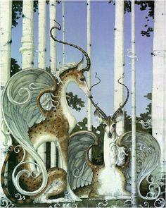 Daniel Merriam - love animals turned into fantasy creatures