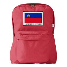 Liechtenstein American Apparel Backpack  $61.20  by KellyMagovern  - cyo customize personalize diy idea