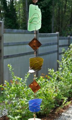 Glass and Copper Handcrafted Outdoor Wind Chime - Coast Chimes - 2