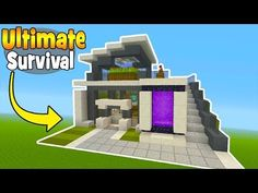 Minecraft Tutorial: How To Make A 2 Player Survival Tree Base (Survival Base) - YouTube #minecraftfurniture