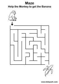 Gambar Permainan Maze Labirin Anak Usia Dini Balita Tk