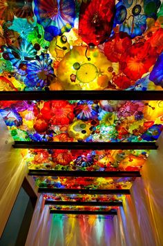 Incredible new permanent  art exhibit in Seatle, WA. Chihuly Garden & Glass. I'd love to see it.
