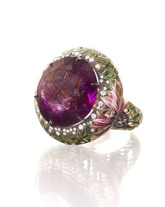 #ilgizf #ring #diamonds #gold #amethyst #enamel #hotenamel #exclusive