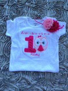 Pink look whoooo's one owl birthday shirt  1st by CEBowtique, $21.00