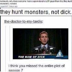 lmfao!!  yeah supernatural isn't gay pffft