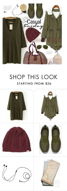 """""""Casual look -  Beanies"""" by beebeely-look ❤ liked on Polyvore featuring RVCA, NIKE, Marshall and Fendi"""