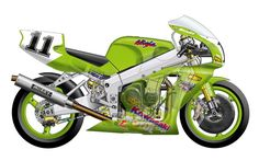 World Superbike cutaway series. The convergence of fine art and good engineering is almost commonplace in the world of international racing