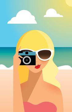 Summer Girl Illustration | Lainey Lee